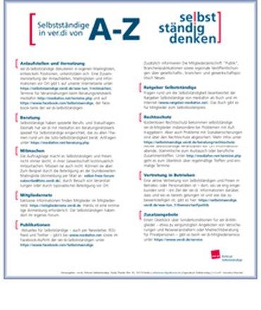 Flyer A-Z für Selbstständige