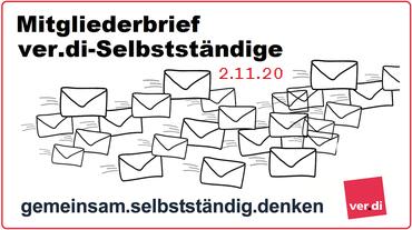 Mitgliederbrief ver.di-Selbstständige 11/2020