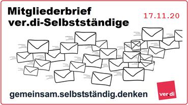 Mitgliederbrief ver.di-Selbstständige 17.11.20